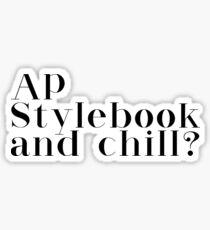 AP style Sticker