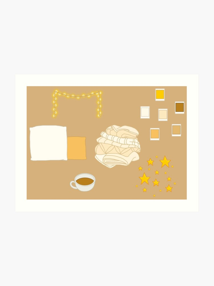 image regarding Aesthetic Stickers Printable identify Tender Yellow Aesthetic (Stickers/Practice) Artwork Print
