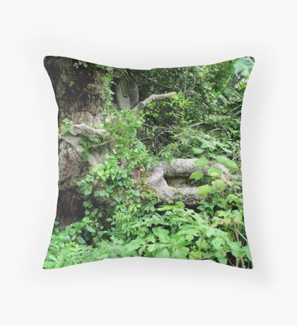 Old Oak and Vines Throw Pillow