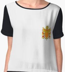Coat of arms of Catalonia, Escudo de armas de cataluña, Coat of arms, arms, crest, blazon, cognizance, childrensfun, purim, costume Chiffon Top