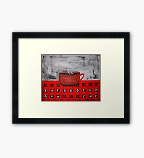 The Red Cup Framed Print