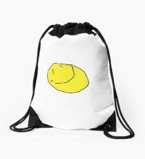 Yellow Face Drawstring Bag