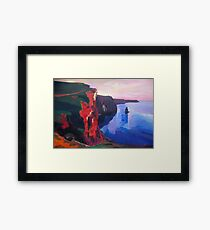 Cliffs of Moher in County Clare Ireland at Sunset  Framed Print