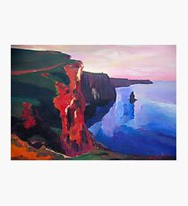 Cliffs of Moher in County Clare Ireland at Sunset  Photographic Print