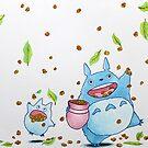 Studio Ghibli's - Autumn Totoro by DKSartDesign