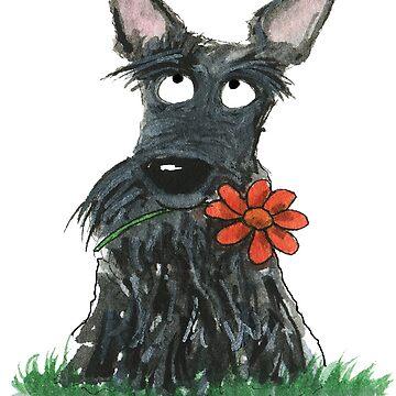 Scottie Dog 'Flower' by archyscottie