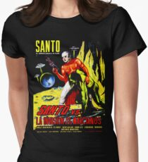 Santo vs. The Invasion of the Martians! '67 Womens Fitted T-Shirt