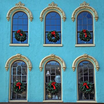Christmas Wreath Ornate Window Franklin Tennessee by HarperDrewArt