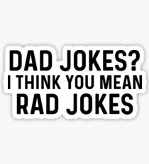 Dad jokes. Sticker