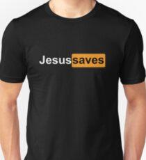 JESUS SAVES PORNHUB LOGO BLACK Unisex T-Shirt