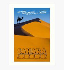 Weinlese-Ähnliches Sahara-Wüsten-Reise-Plakat Kunstdruck