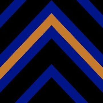 Chevrons - Blue and Bronze by Sarinilli