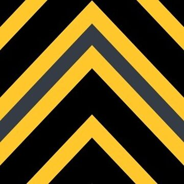Chevrons - Yellow and Black by Sarinilli
