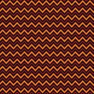 Chevrons - Red and Gold by Sarinilli