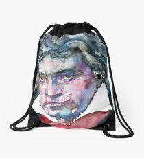LUDWIG VAN BEETHOVEN - watercolor portrait.2 Drawstring Bag