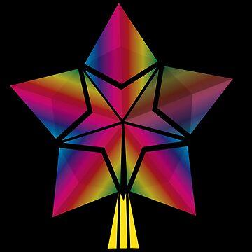 Rainbow Ethereum shooting star by darkydoors