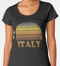 Vintage Italien Sonnenuntergang Shirt Premium Rundhals-Shirt
