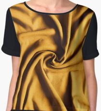 Drapery fabric gold whirlpool Chiffon Top