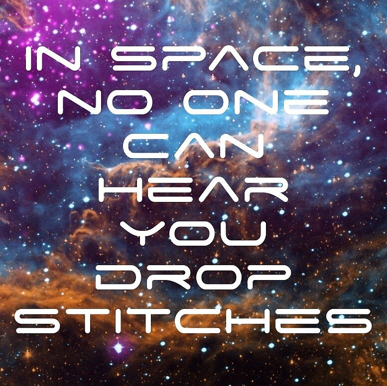 In space, no one can hear you drop stitches by GamerCrafting