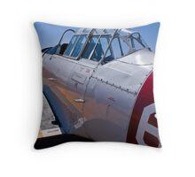 North American Rokwell Harvard AT-6C (SAAF 69) (ZU-FNE) Throw Pillow