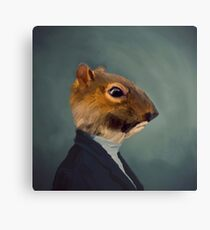 Portrait of Sir Squirrel  Canvas Print