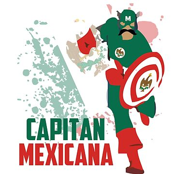 Capitan Mexicana Cool Sarcastic Funny America Captain Graphic Artistic Design by overstyle