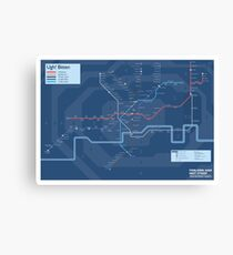 London Underground Night Tube Map of Anagrams Canvas Print