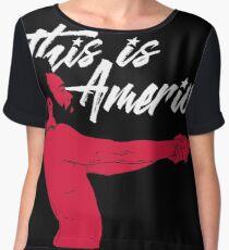 This is America!  Chiffon Top