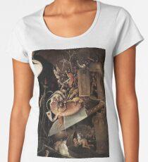 Camiseta premium para mujer Monstruos comiendo un caballero por Hieronymus Bosch