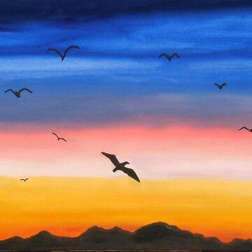Sunset Shilouette by artforsoul