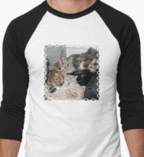 Bengal Cat Kitty Pile Men's Baseball ¾ T-Shirt