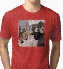 Bengal Cat Kitty Pile Tri-blend T-Shirt