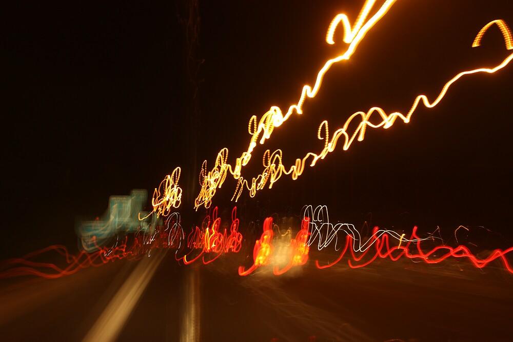 Freeway by Night by Matt  Williams