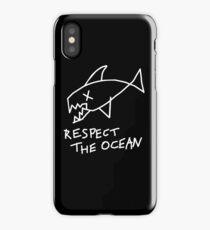 Respect the Ocean - Cool Grunge Mashup - Black Version iPhone Case/Skin