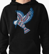 Kingfisher Pacific Northwest Native American Style Art Pullover Hoodie