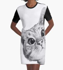 sneaky cat Graphic T-Shirt Dress