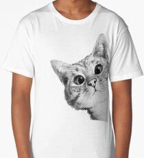 sneaky cat Long T-Shirt