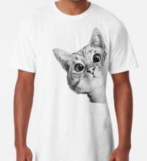 chat sournois T-shirt long