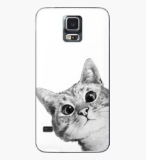 sneaky cat Case/Skin for Samsung Galaxy