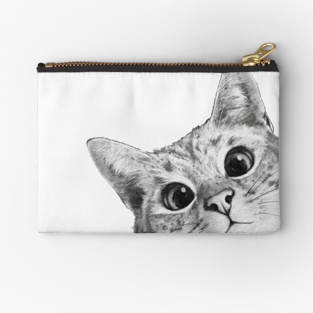 sneaky cat Zipper Pouch
