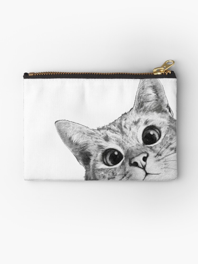 """sneaky Cat"" Studio Pouches By Lauragraves"