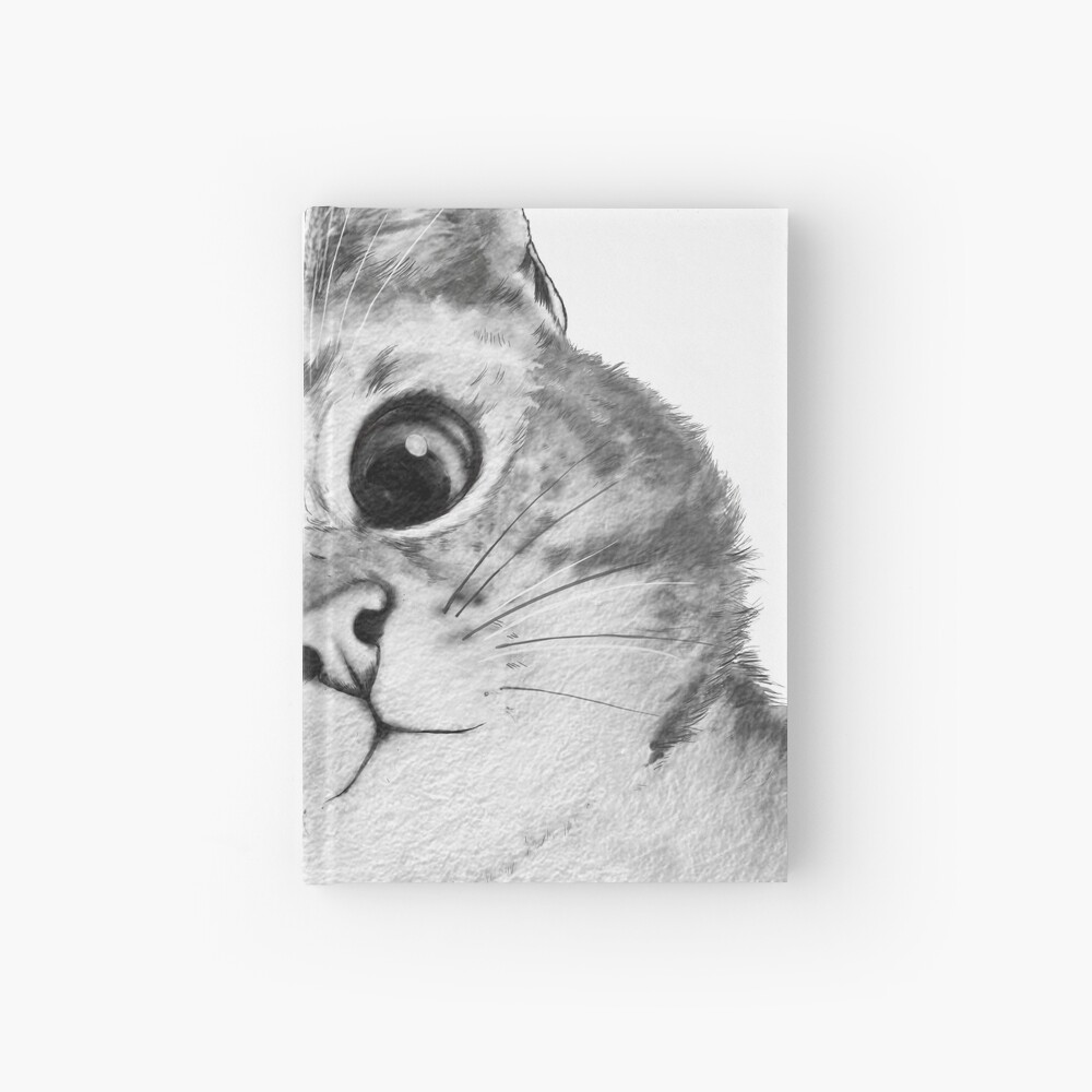 sneaky cat Hardcover Journal