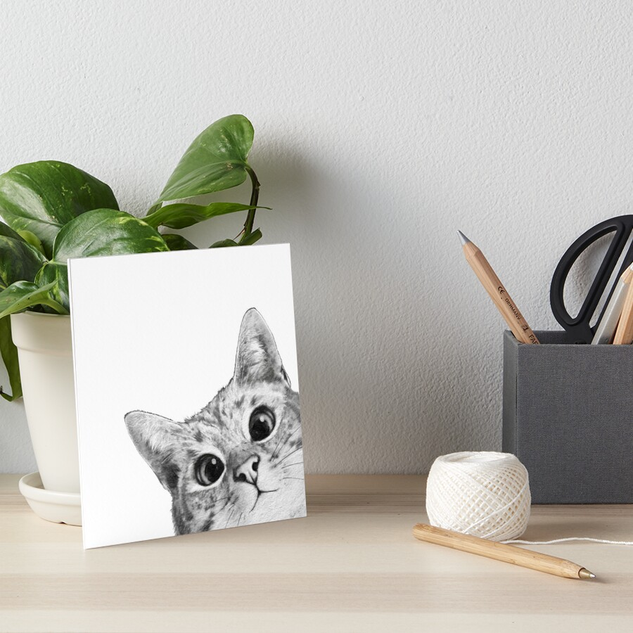 sneaky cat Art Board Print
