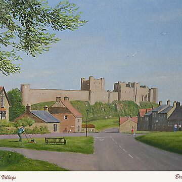 PAINTING - BAMBURGH CASTLE. by briantowers