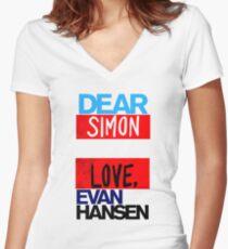 Huge Love Simon Women's Fitted V-Neck T-Shirt