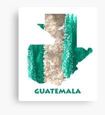 Map Watercolor Country Guatemala Canvas Print