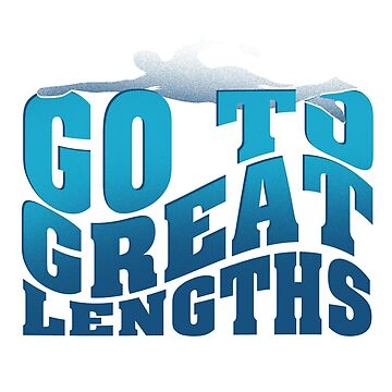 Swimming Go To Great Lengths Swimwear Apparel T-Shirt by Dhiemeson