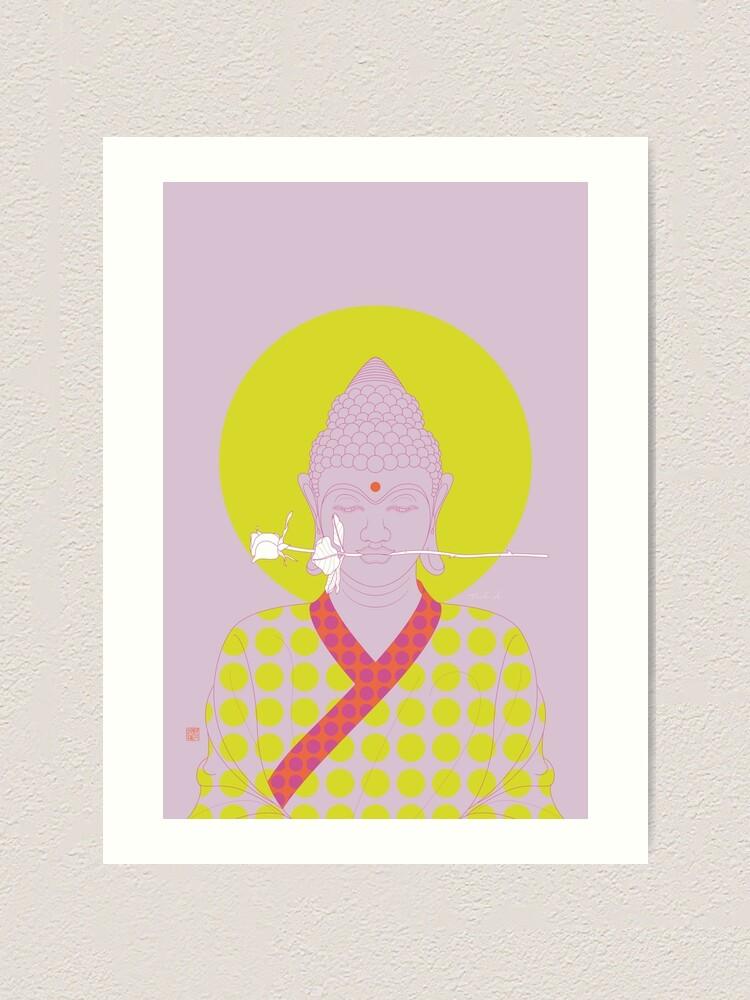 Alternate view of Buddha : Make Love! (PopArtVersion) Art Print