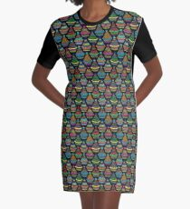 """Pattern #82 - Moroccan tagines at the souk"""" Graphic T-Shirt Dress"""