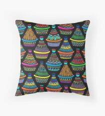 "Pattern #82 - Moroccan tagines at the souk"" Throw Pillow"